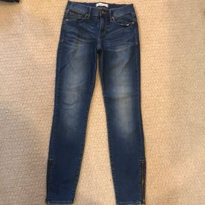 madewell jeans with zippers